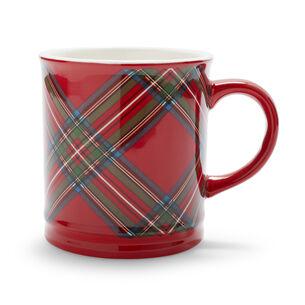 Red Plaid Mug, 17.6 oz.