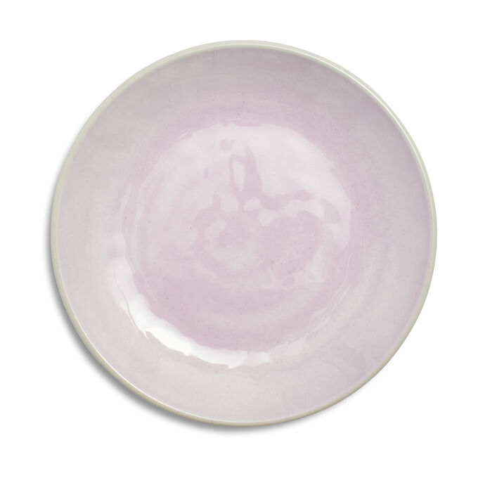 Reactive Pink Melamine Dinner Plates, Set of 4