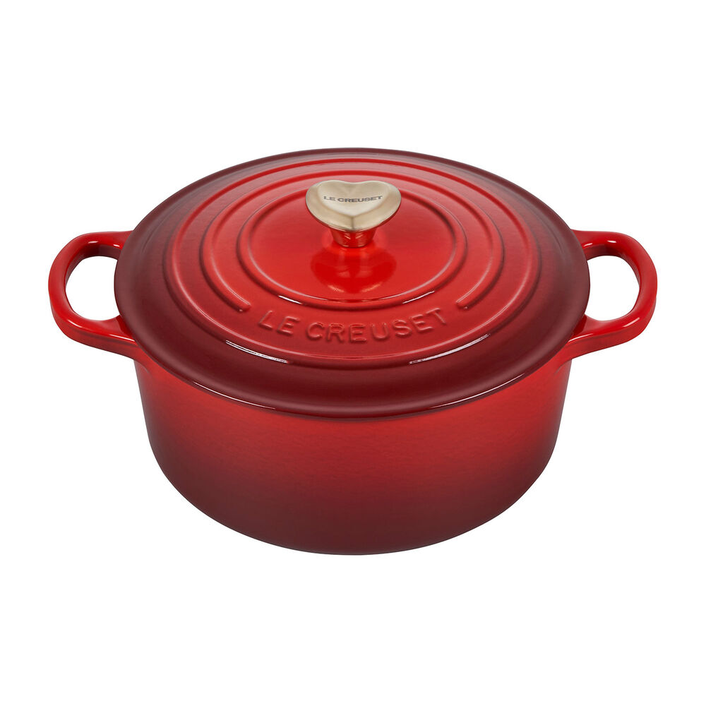 Le Creuset Dutch Oven with Heart Knob, 3.5 qt.