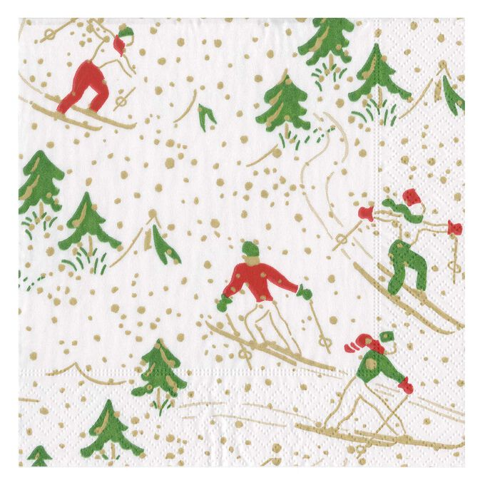 Winter Sports Cocktail Napkins, Set of 20