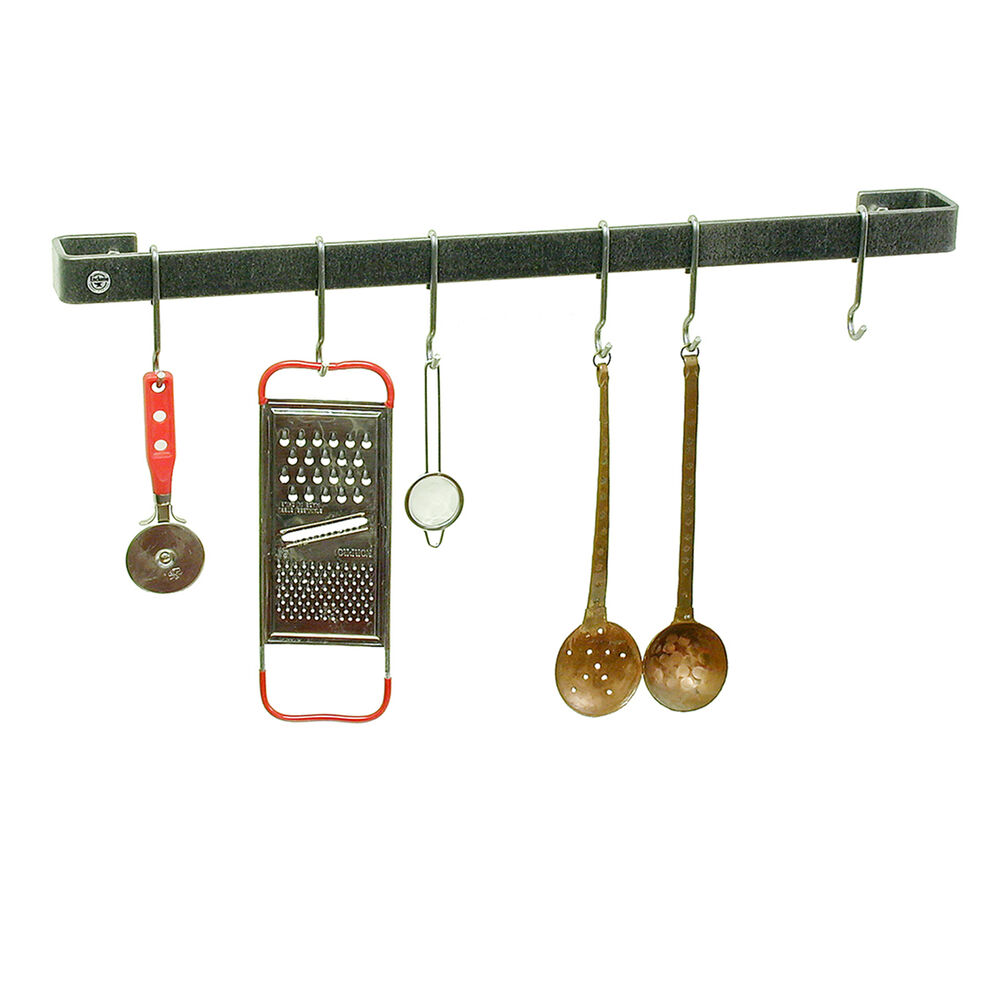Enclume Hammered Steel Utensil Bar Wall Racks