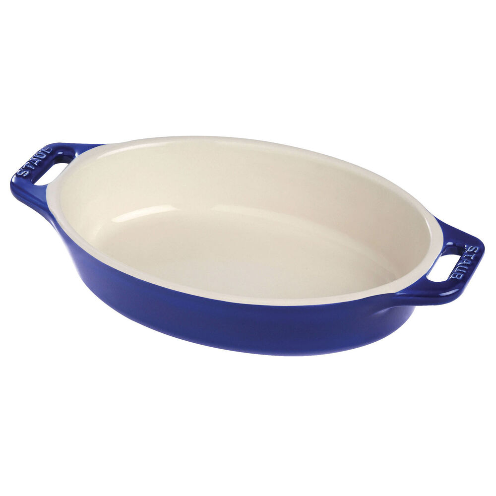 "Staub Ceramic Oval Baking Dish, 15"""