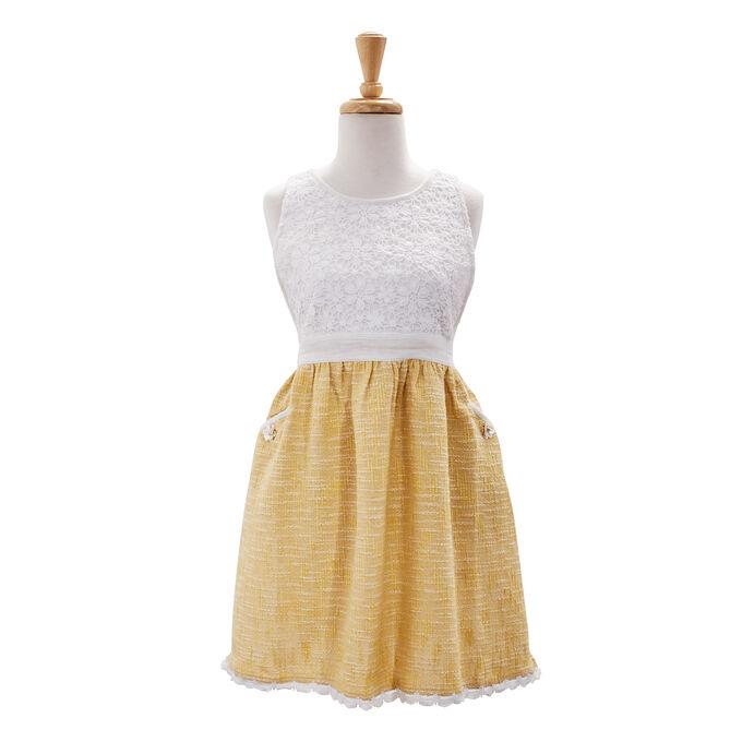 Vintage Lace Yellow Apron