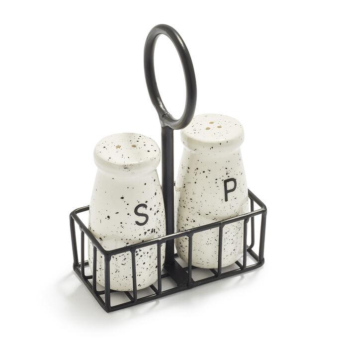 Milk Bottle 3-Piece Salt and Pepper Shaker Set