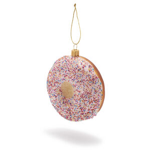 Pink Donut Glass Ornament