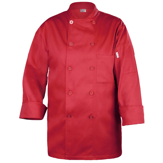 Chef Works Basic Red Chef's Coat