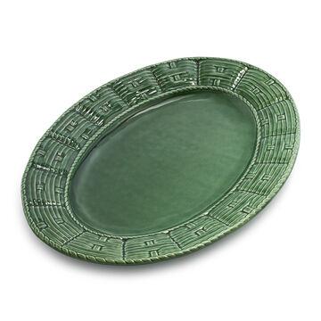 Basketweave Oval Platter