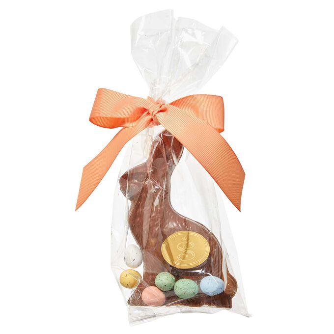 Saxon's Chocolate Milk Chocolate Chubby Bunny with Mini Eggs