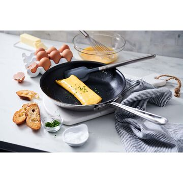 """All-Clad d3 Stainless Steel Nonstick 10"""" Skillet with Spatula"""