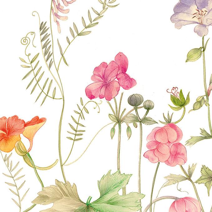 Caspari French Floral Guest Napkins, Set of 15
