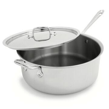 All-Clad d3 Stainless Steel Deep Sauté Pan, 6 qt.