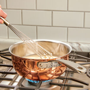 All-Clad c4 Copper Saucier with Lid, 2.5 qt.