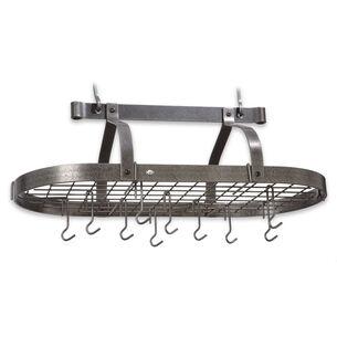 Enclume Hammered Steel Oval Pot Rack