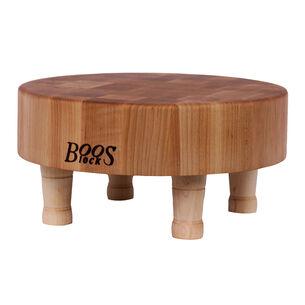 """John Boos & Co. Maple End-Grain Chopping Block with Feet, 12"""""""