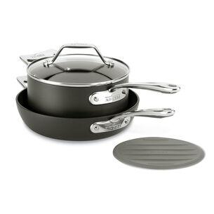 All-Clad Essentials 4-Piece Skillet & Saucepan Set