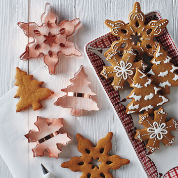 Copper-Plated Christmas Tree Cookie Cutter with Handle