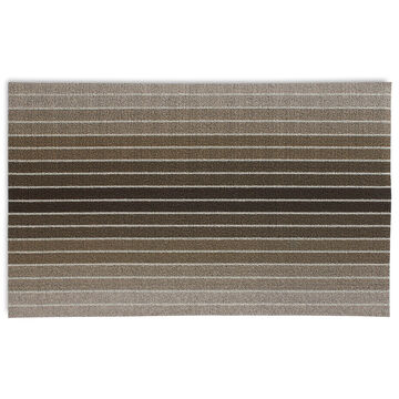 Chilewich Shag Mat, Black Taupe