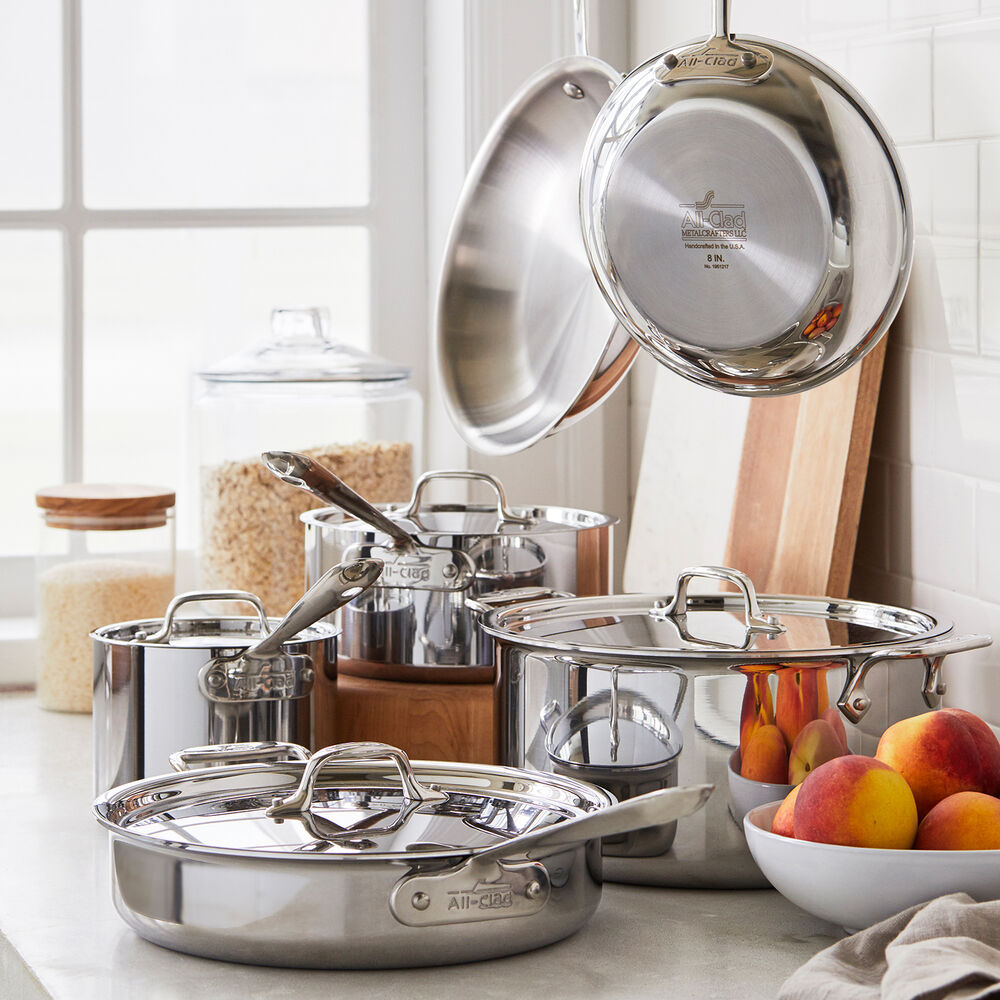All-Clad d3 Stainless Steel 10-Piece Set