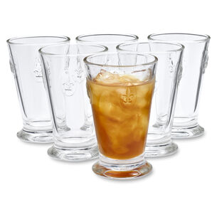 La Rochère Fleur-De-Lys Iced Tea Glasses, Set of 6