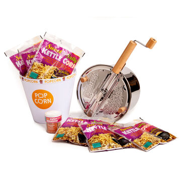 Stainless Steel Whirley Pop Kettle Corn Set