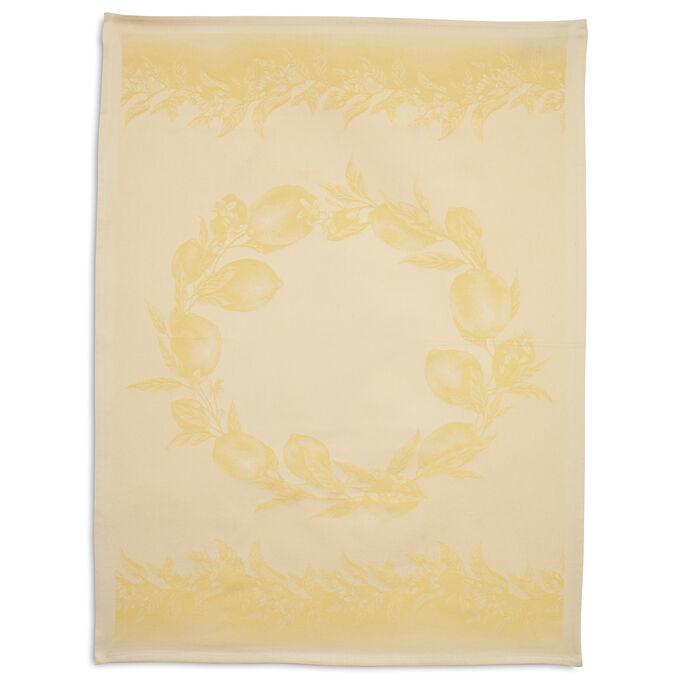 Lemon Yellow Jacquard Kitchen Towel