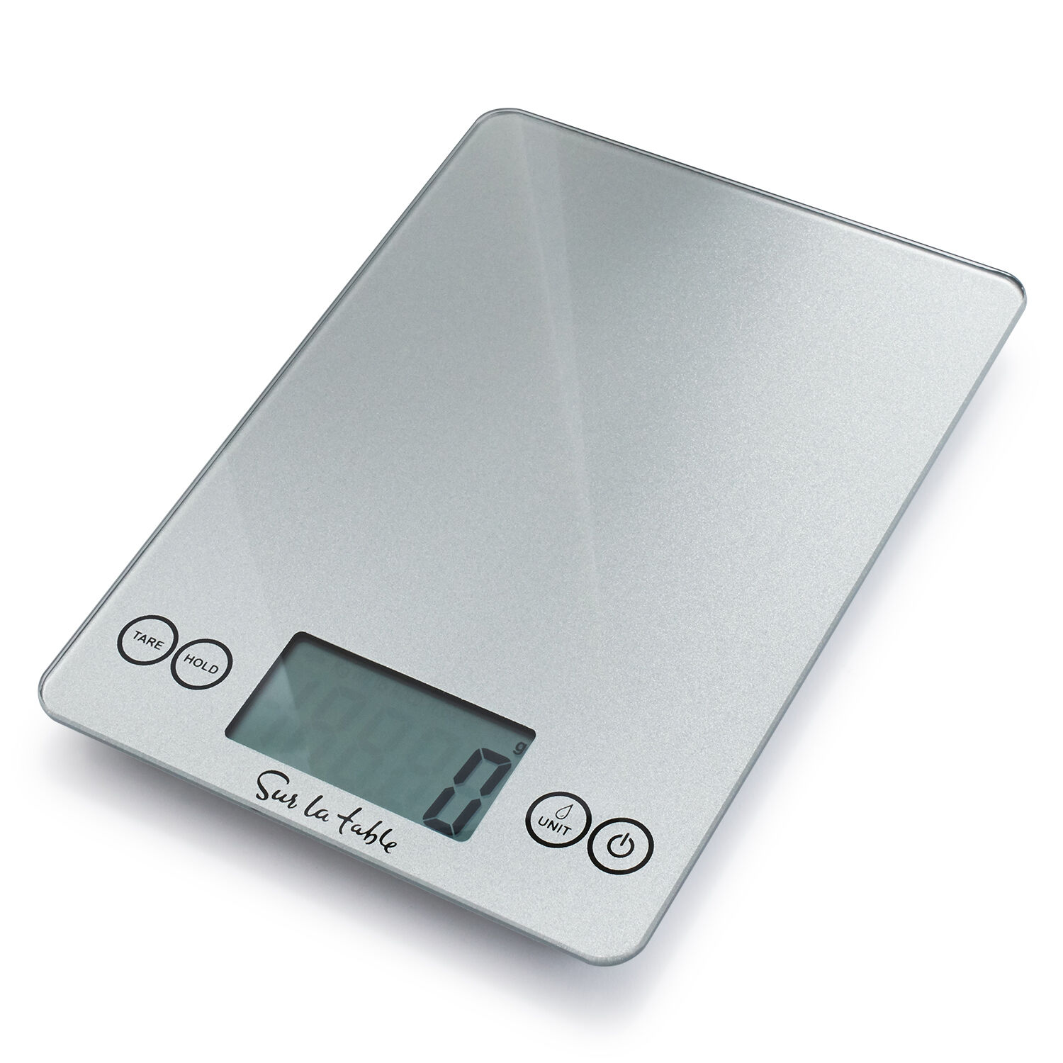 Digital Kitchen Food Scale 15lb White measures both Grams and Ounces
