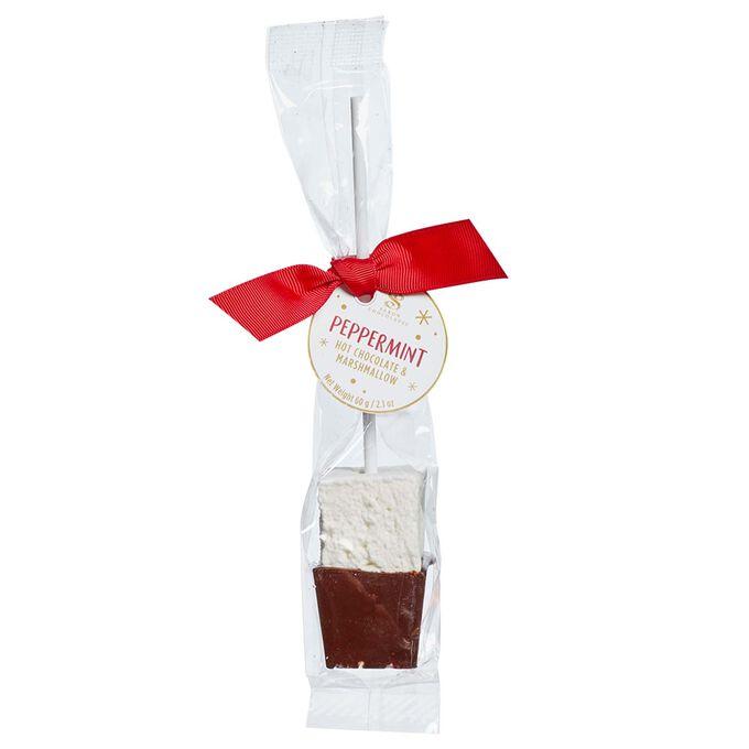 Saxon's Peppermint Hot Chocolate Marshmallow Stir Stick