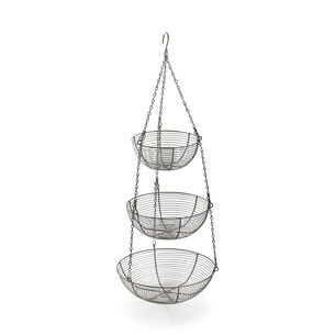 Three-Tier Hanging Basket, Aluminum
