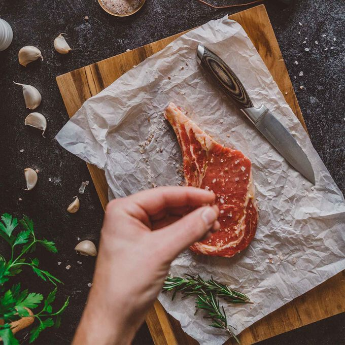 Schmidt Brothers Cutlery Bonded Ash Jumbo Steak Knives, Set of 4