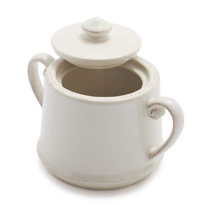 Pearl Stoneware Sugar Bowl