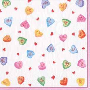 Candy Hearts Cocktail Napkins, Set of 20