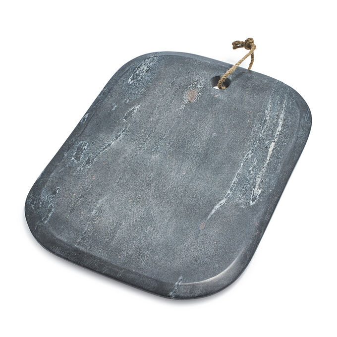 "Gray Marble Rectangular Cheese Board, 15"" x 11"""