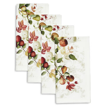 Autumn Fruit Napkins, Set of 4