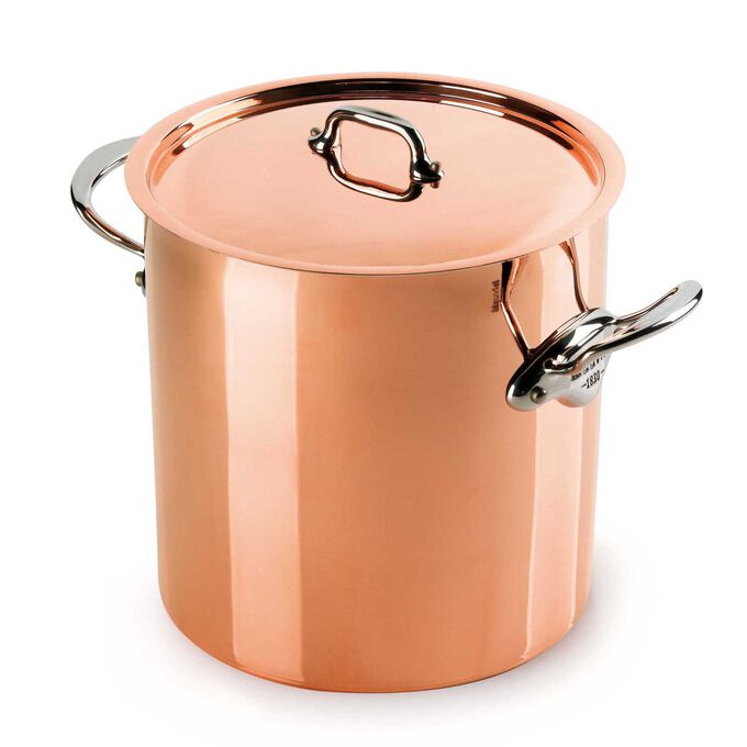 Mauviel M'héritage 150s Covered Stockpot, 11.7 qt.