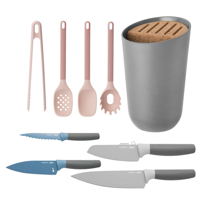 Leo 9-Piece Cutlery and Utensil Set with Organizer
