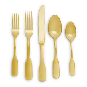 Fortessa Ashton Brushed Gold Flatware Sets