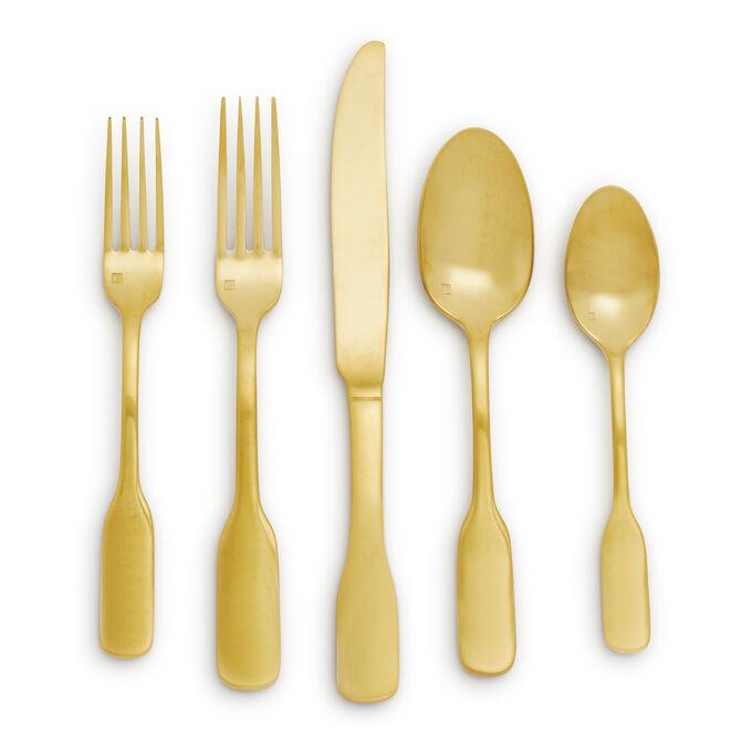 Fortessa Ashton Brushed Gold Flatware Sets