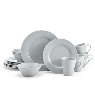 Delray Grey 16-Piece Bone China Dinnerware Set