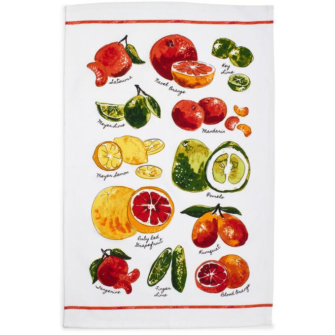 "Varietal Citrus Kitchen Towel, 28"" x 20"""