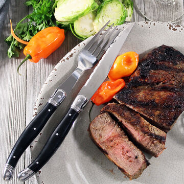 French Home Laguiole 8-Piece Steak Knife and Fork Set