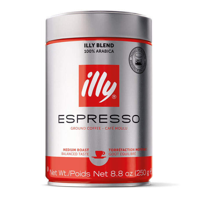 illy Ground Coffee, Medium Espresso