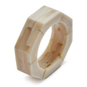 Stacked Bone Napkin Rings, Set of 4