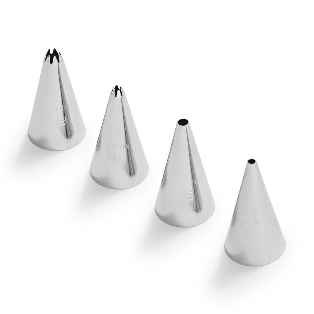 Wilton Small Round & Star Tips, Set of 4