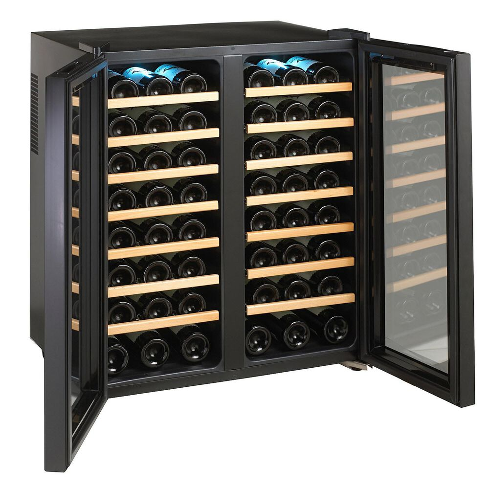Wine Enthusiast Silent Touchscreen Double-Door Dual-Zone Wine Refrigerator, 48 Bottle