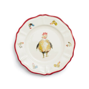 Jacques Pépin Collection Chickens Appetizer Plates, Set of 4