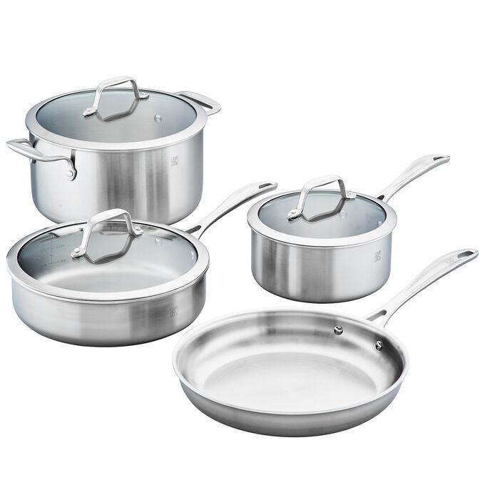 Zwilling Spirit Stainless Steel 7-Piece Cookware Set