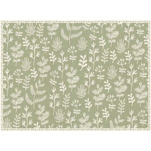 Leaves Vinyl Placemats, Set of 4