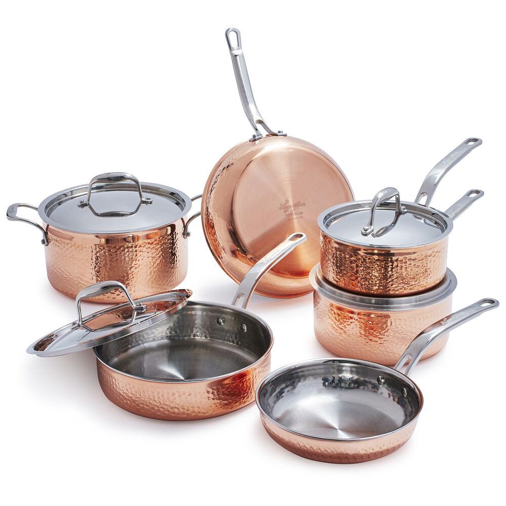 Lagostina Martellata Hammered Copper 10-Piece Set