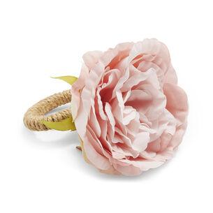 Pink Rose Napkin Rings, Set of 4