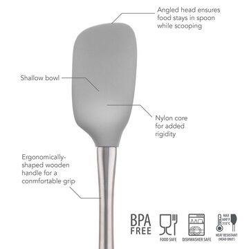 Tovolo Flex-Core Silicone Spatula Spoon with Stainless Steel Handle
